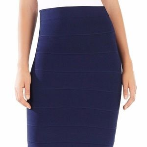 BCBG navy bandage  pencil skirt. M